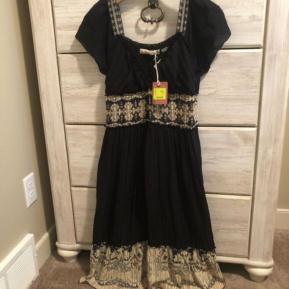 Etro pleated silk dress